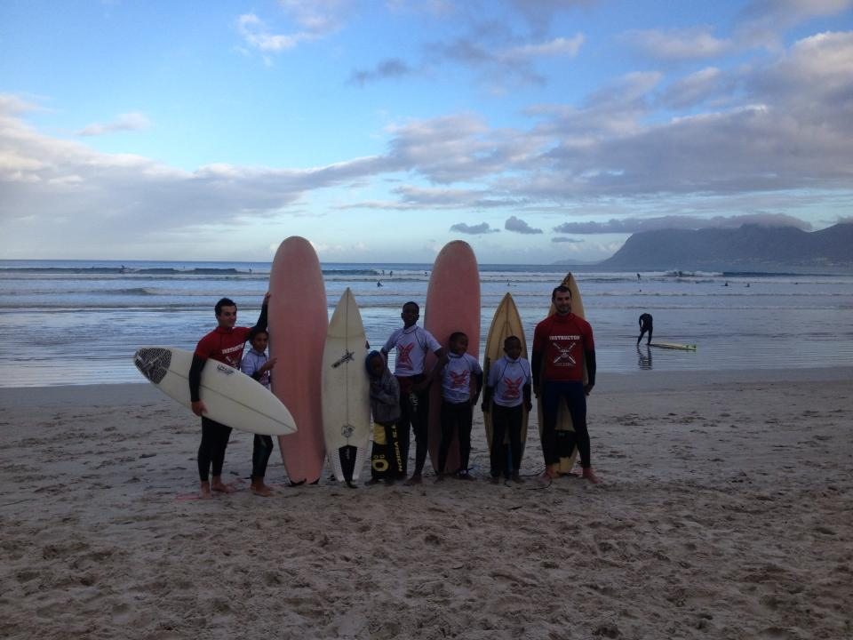 Coming out of the surf with the MBC members