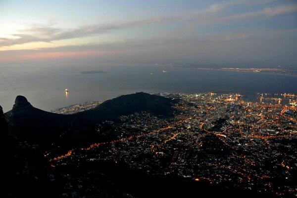 The amazing view of Cape Town from the top!