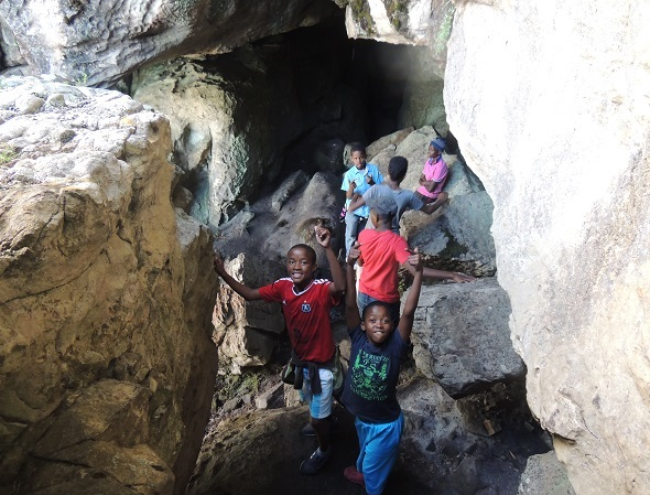 The Kids Conquering the Cave
