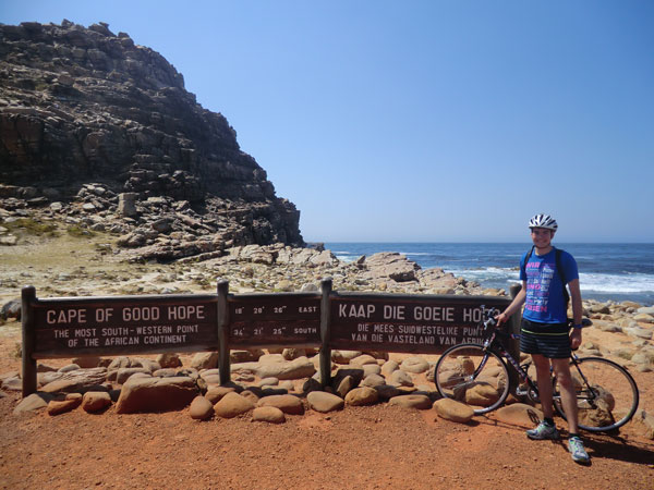 Using the free time to cycle to Cape Point